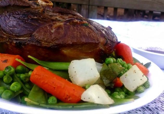 Vegetables For Easter Dinner  United States Easter dinner Leg of lamb spring