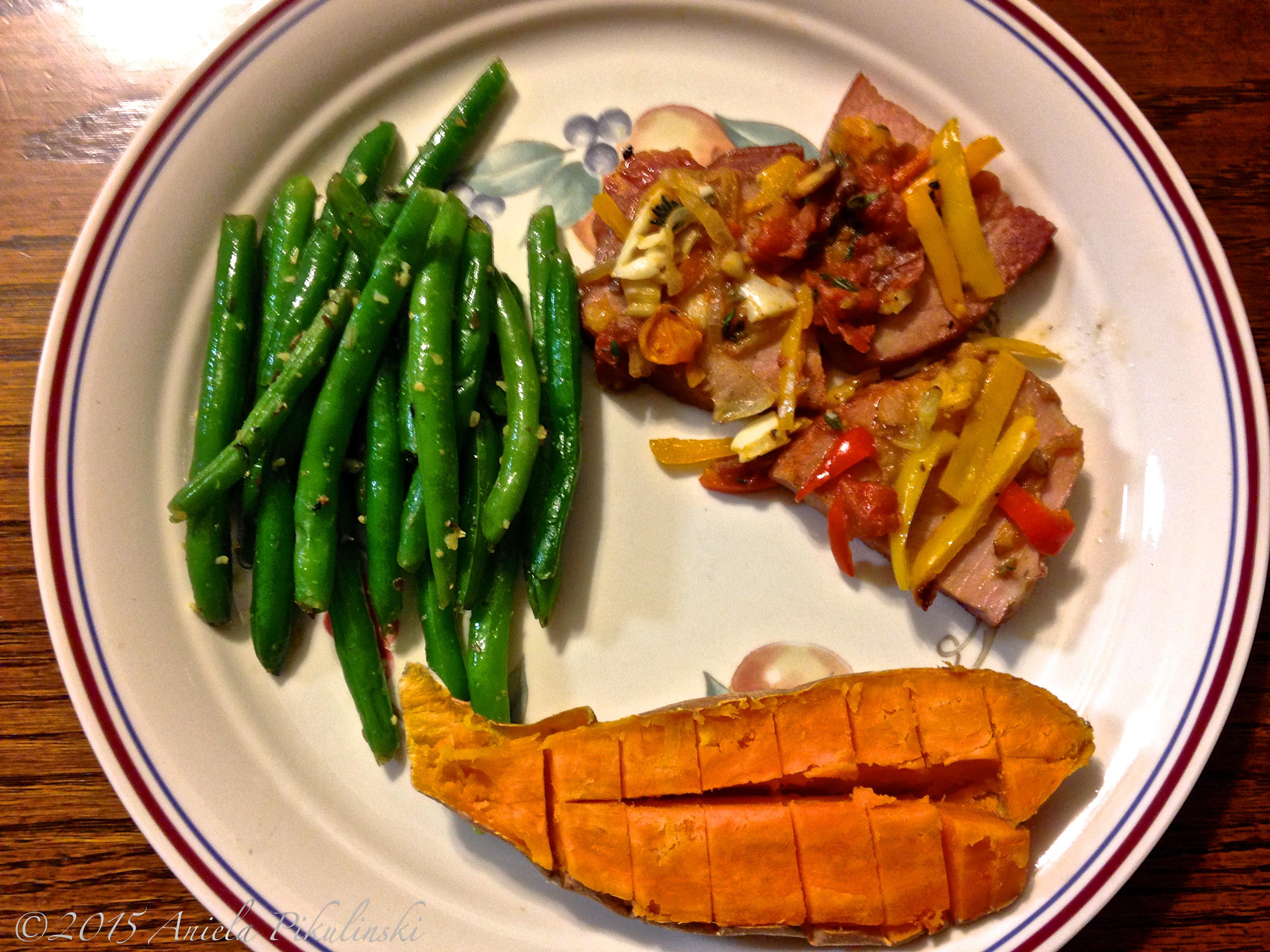 Vegetables For Easter Dinner  Sliced Ham with Sautéed Ve ables Life with Aniela