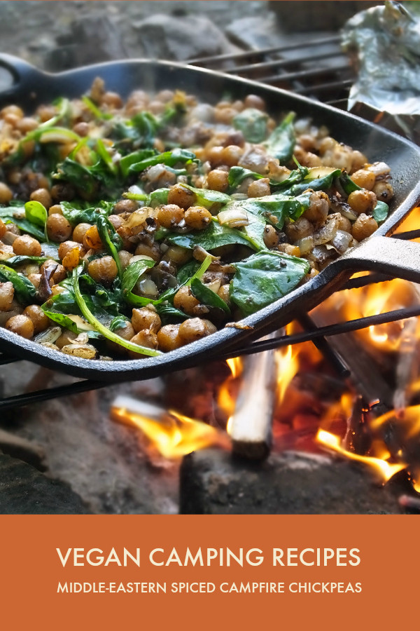 Vegetarian Camping Recipes  Vegan Camping Recipes Middle Eastern Spiced Chickpeas