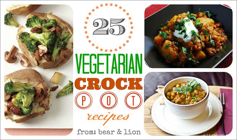 Vegetarian Crock Pot Recipes Healthy  ve arian crock pot recipe round up