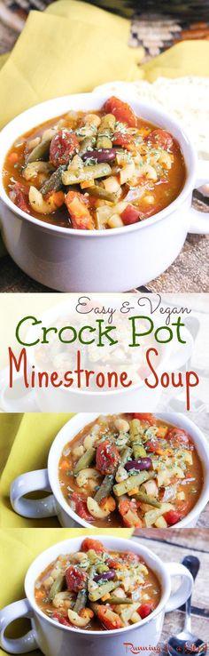 Vegetarian Crock Pot Recipes Healthy  1000 ideas about Ve arian Minestrone Soup on Pinterest