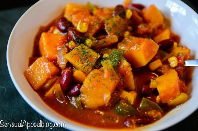 Vegetarian Crock Pot Recipes Healthy  Vegan Butternut Chili Healthy Crock Pot Recipe Sensual
