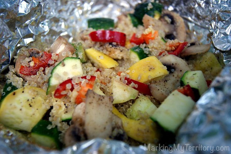 Vegetarian Foil Packet Recipes Camping  Quinoa & Summer Ve able Stir Fry Foil Packet