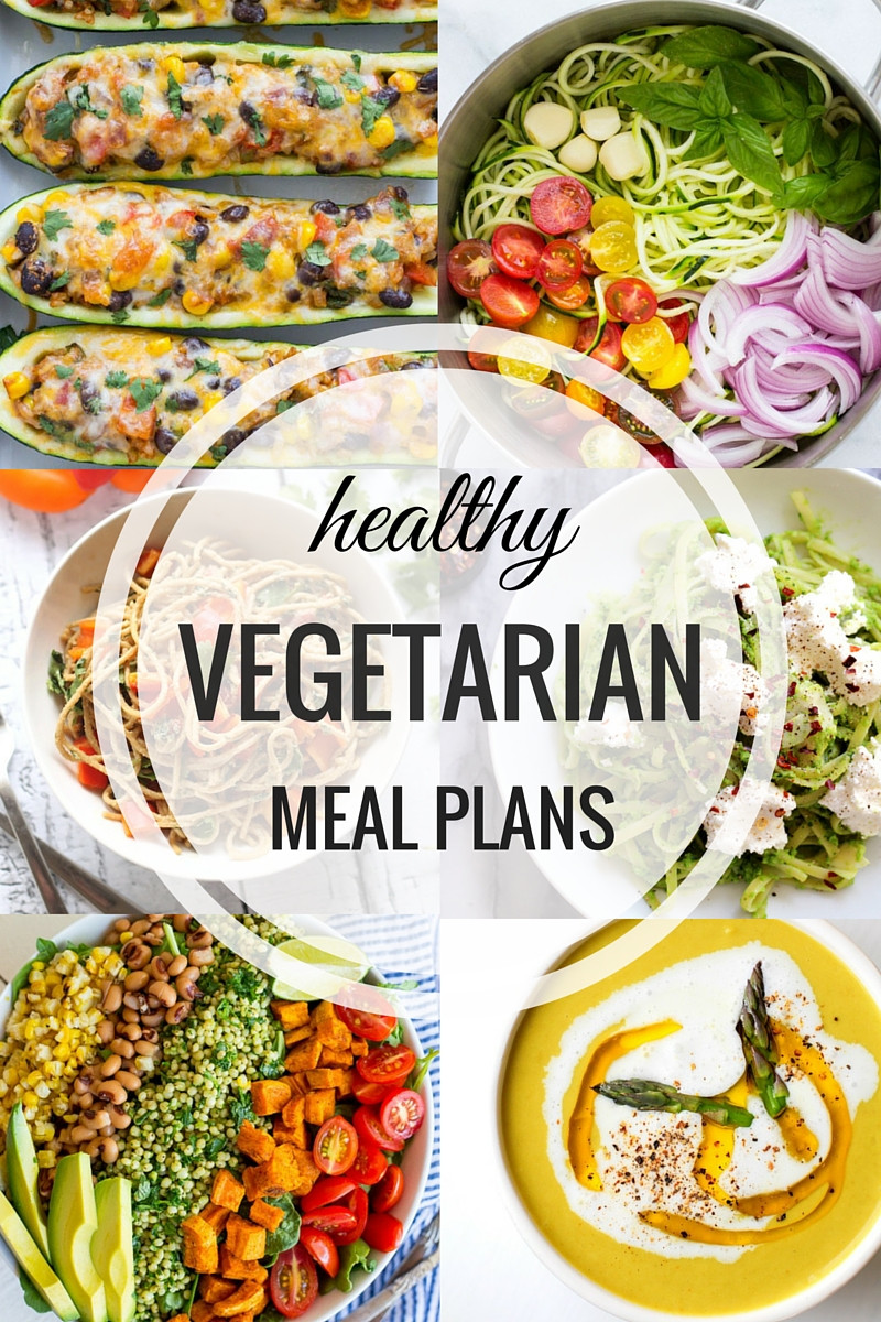 Vegetarian Healthy Dinners  Healthy Ve arian Meal Plans Week e Making Thyme for