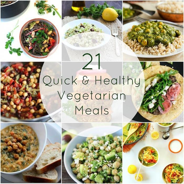 Vegetarian Healthy Dinners  21 Quick & Healthy Ve arian Meals Hummusapien
