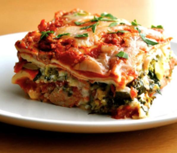 Vegetarian Lasagna Healthy  Deliciously Healthy Veggie Lasagna
