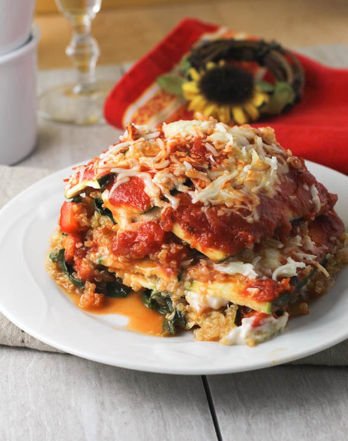 Vegetarian Lasagna Healthy  Quinoa Zucchini Lasagna citronlimette