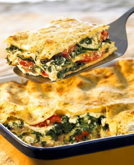 Vegetarian Lasagna Healthy  Ve able Lasagna
