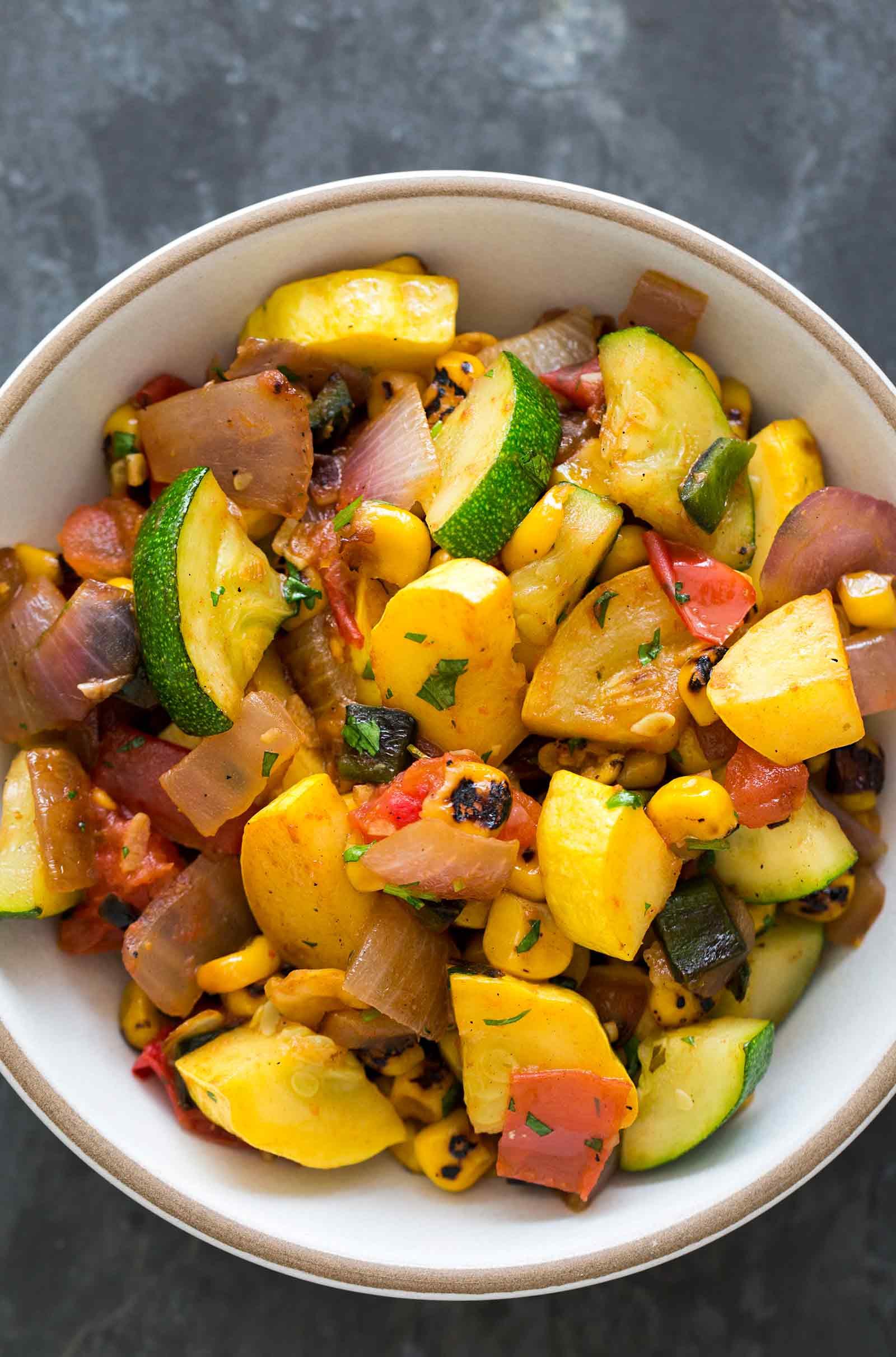 Vegetarian Recipes For Summer  Summer Squash Green Chile Stir Fry Recipe