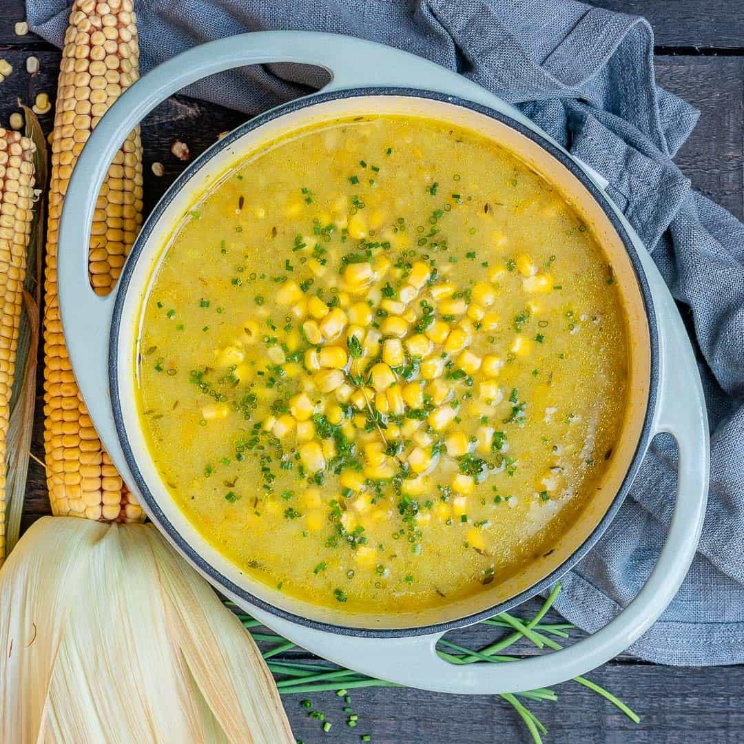 Vegetarian Summer Corn Chowder  Healthy Summer Corn Chowder Ve arian and Gluten Free