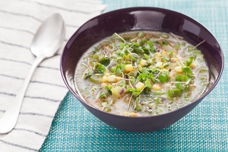 Vegetarian Summer Corn Chowder  Recipe Summer Corn & Ve able Chowder Blue Apron