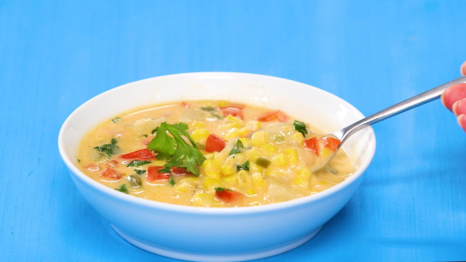 Vegetarian Summer Corn Chowder Panera  summer corn chowder panera