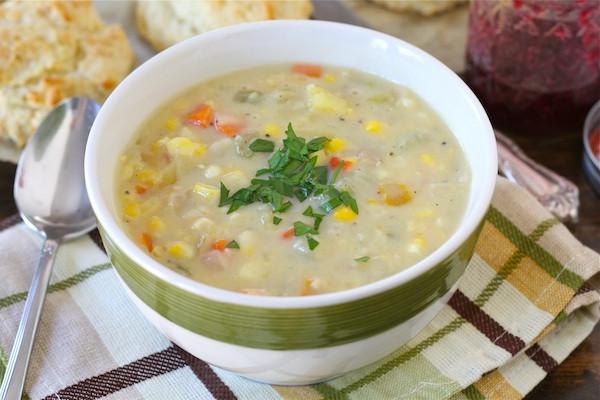 Vegetarian Summer Corn Chowder  Corn Chowder Recipe Ve arian Corn Chowder