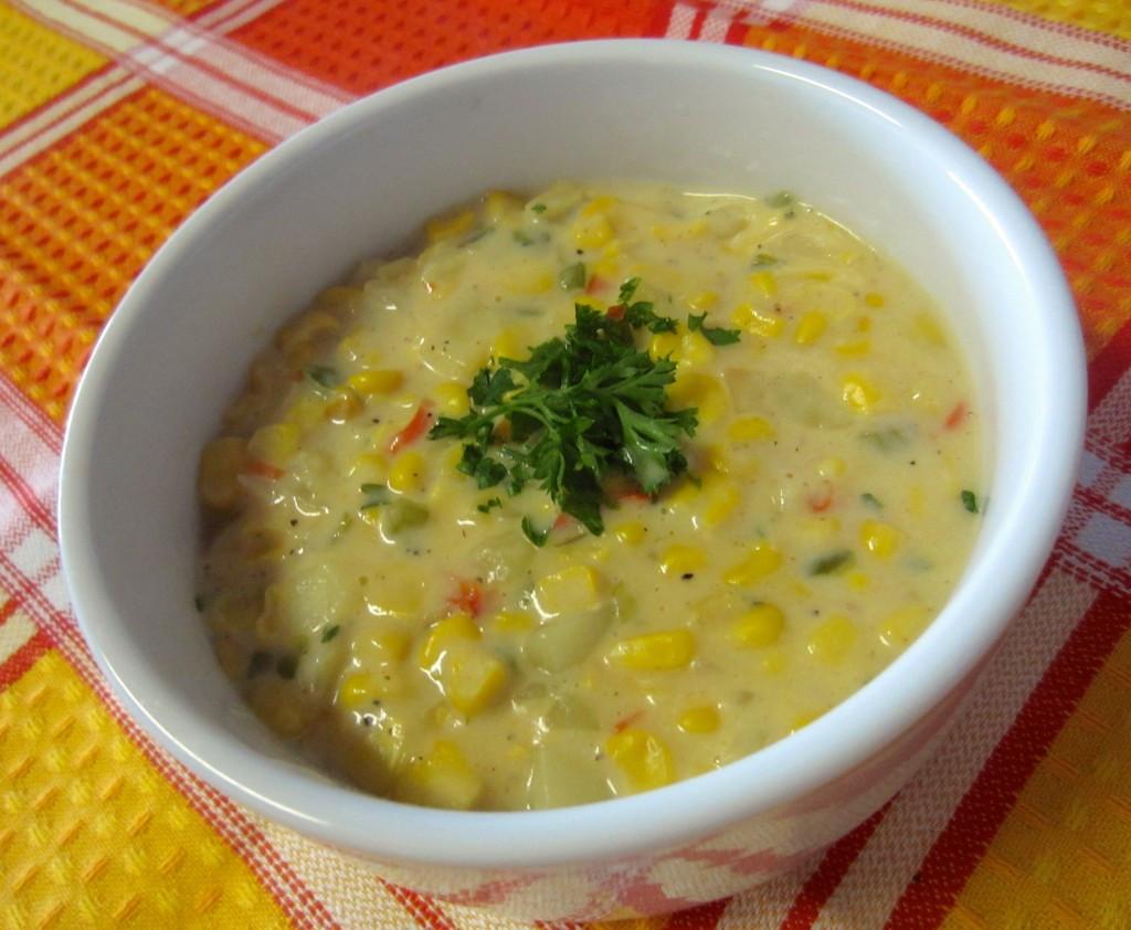 Vegetarian Summer Corn Chowder  Healthy Ve arian Corn Chowder