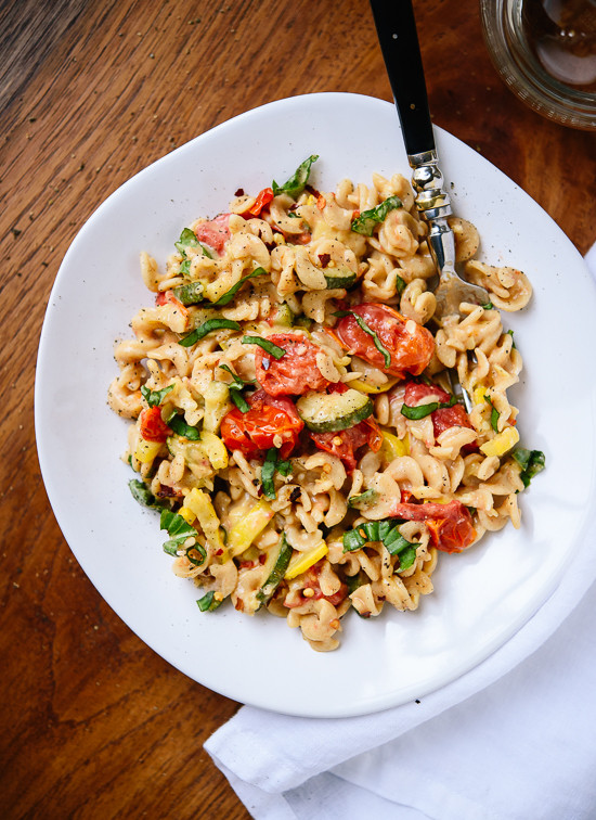 Vegetarian Summer Dinner Recipes  Cherry Tomato & Summer Squash Pasta Cookie and Kate