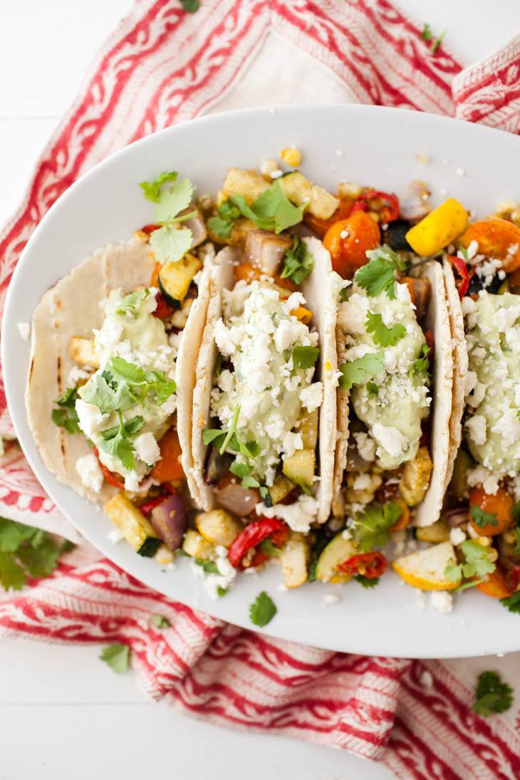 Vegetarian Summer Dinners  Summer Ve arian Tacos with Avocado Cream