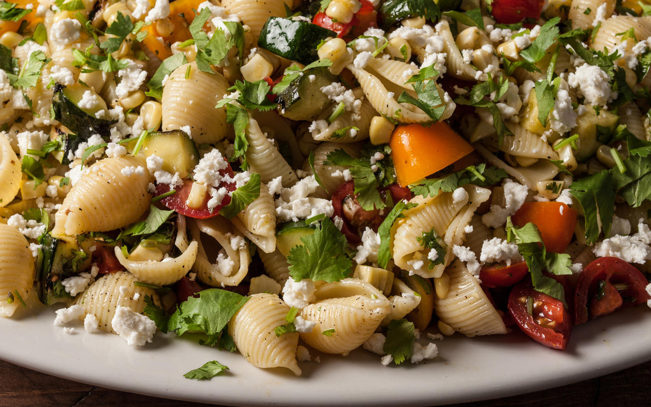 Vegetarian Summer Recipes  Grilled Summer Ve able Pasta Salad Recipe Chowhound
