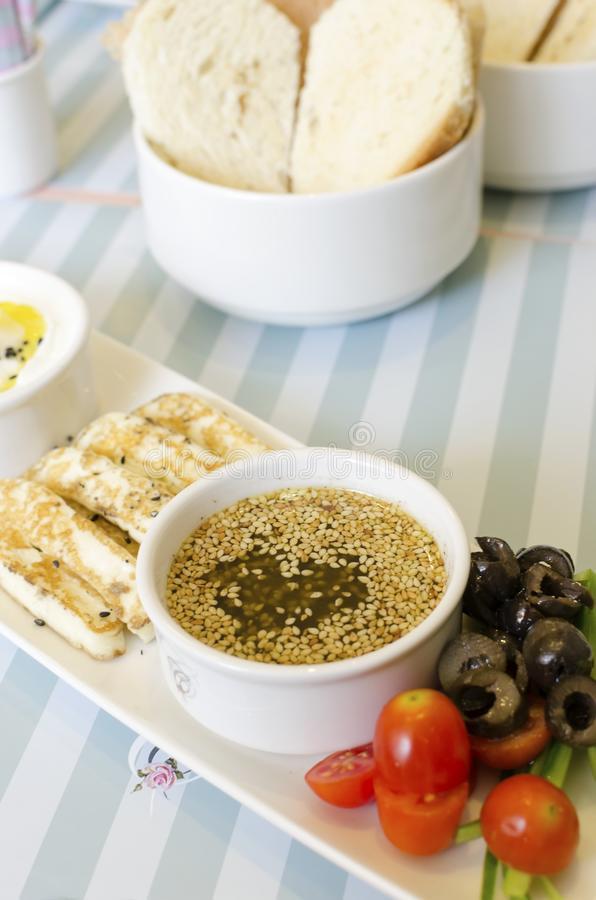 Very Healthy Breakfast  Lebanese Breakfast Stock Image