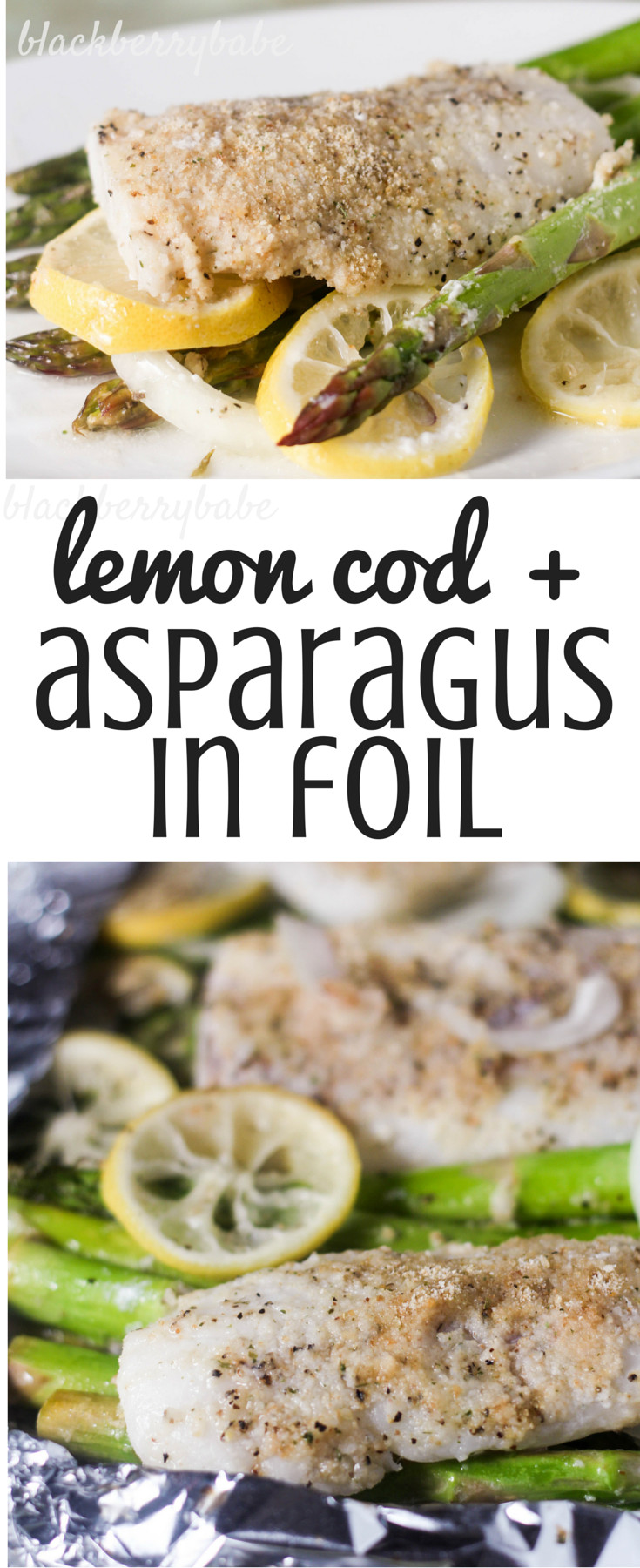 Very Healthy Dinners  Lemon Cod with Asparagus in Foil Easy and very healthy