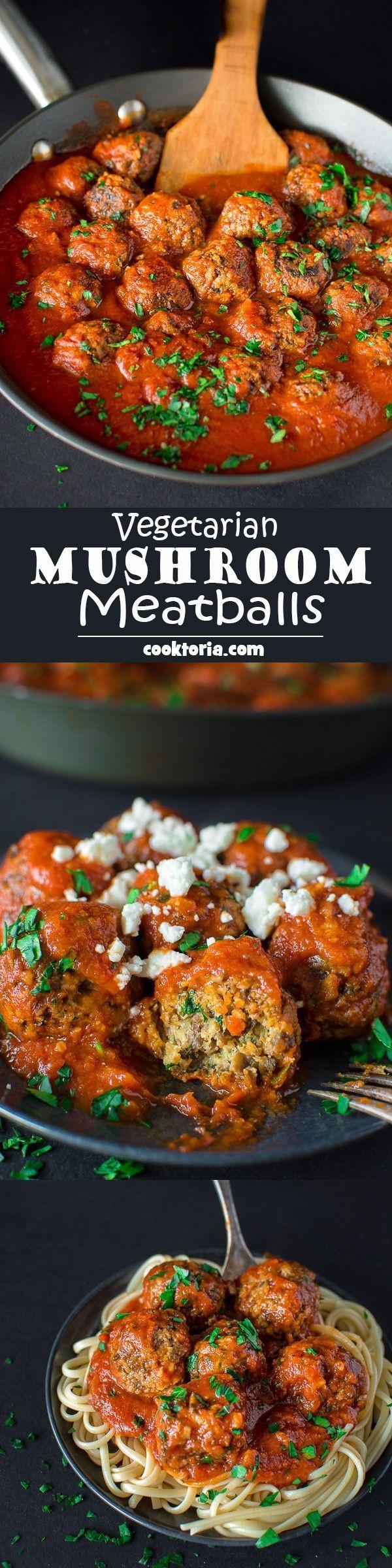 Very Healthy Dinners  Ve arian mushroom meatballs Recipe