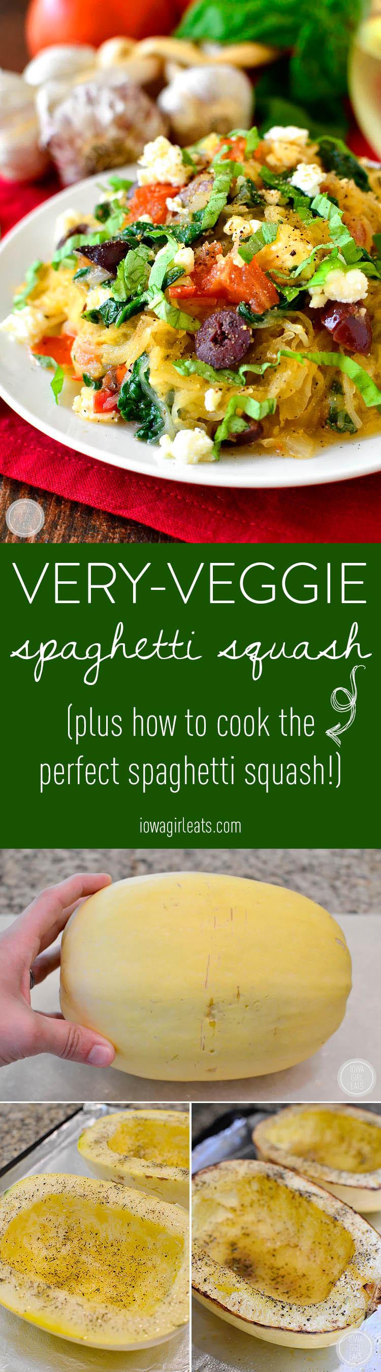 Very Healthy Dinners  Very Veggie Spaghetti Squash Iowa Girl Eats