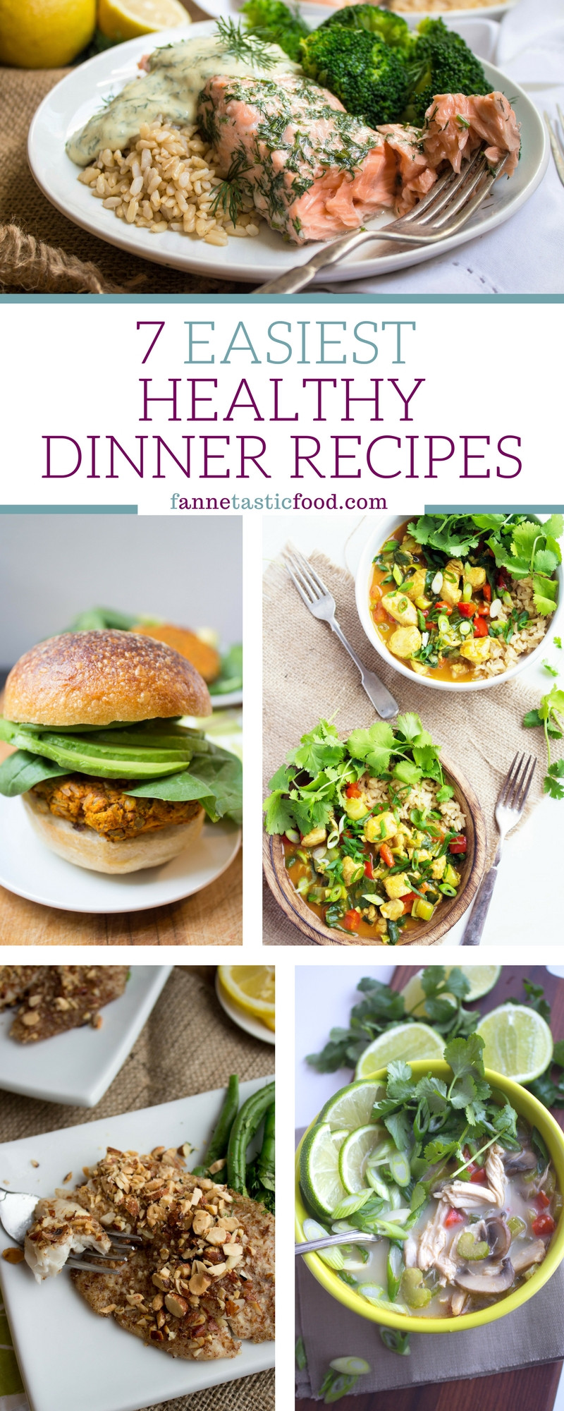 Very Healthy Dinners  Really easy healthy dinner recipes Food easy recipes