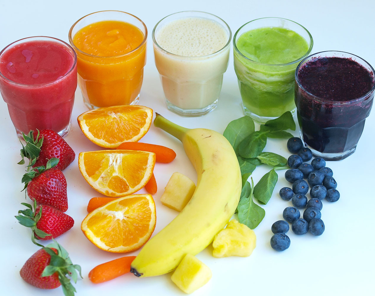 Very Healthy Smoothies  Rainbow Smoothies A Tasting Activity for Kids Happy