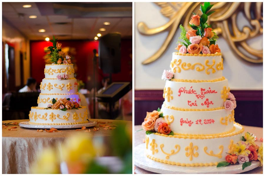 Vietnamese Wedding Cakes  St Joseph Wedding & Kirin Court Reception