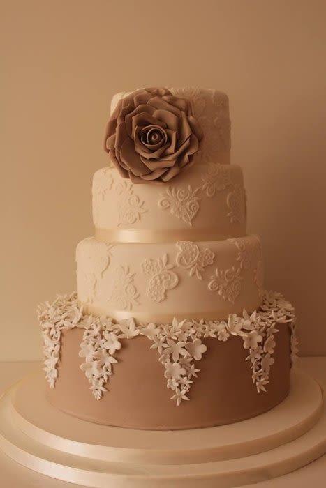 Vintage Style Wedding Cakes  Vintage style wedding cake cake by Tillymakes CakesDecor