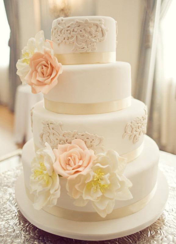 Vintage Wedding Cakes  Vintage Chic Themes Archives Weddings Romantique