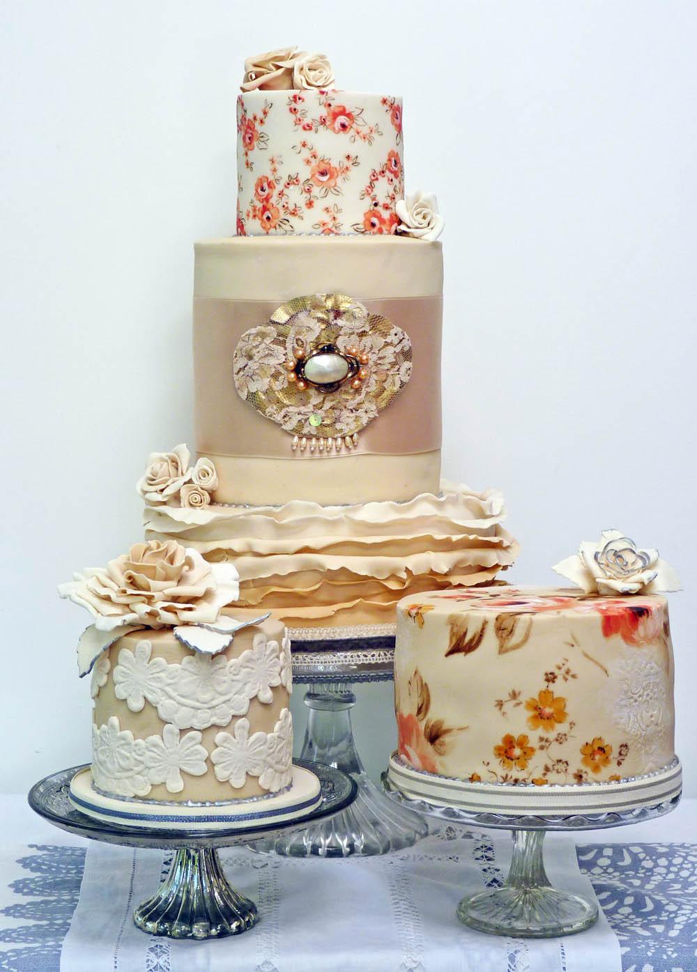 Vintage Wedding Cakes  Weddings