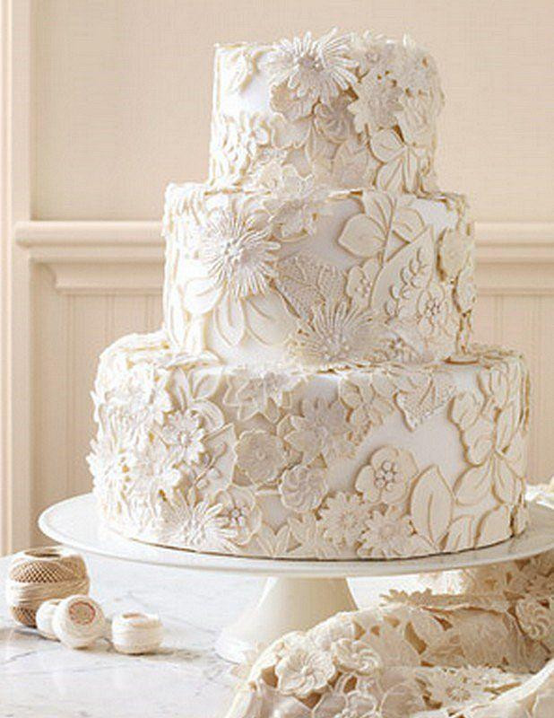 Vintage Wedding Cakes  Vintage Wedding Vintage Lace Wedding Cake Design