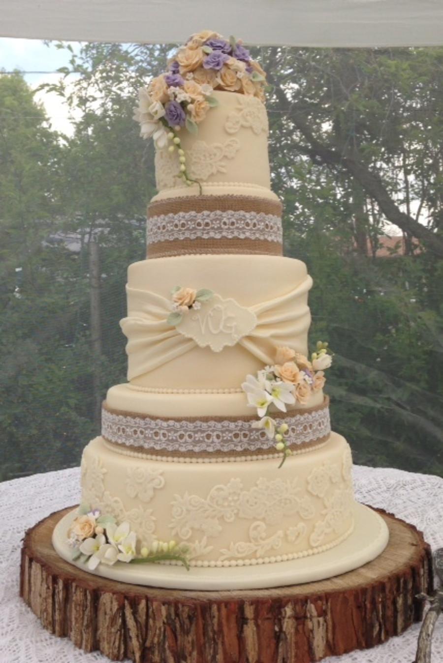 Vintage Wedding Cakes Ideas  Vintage Rustic Wedding Cake CakeCentral