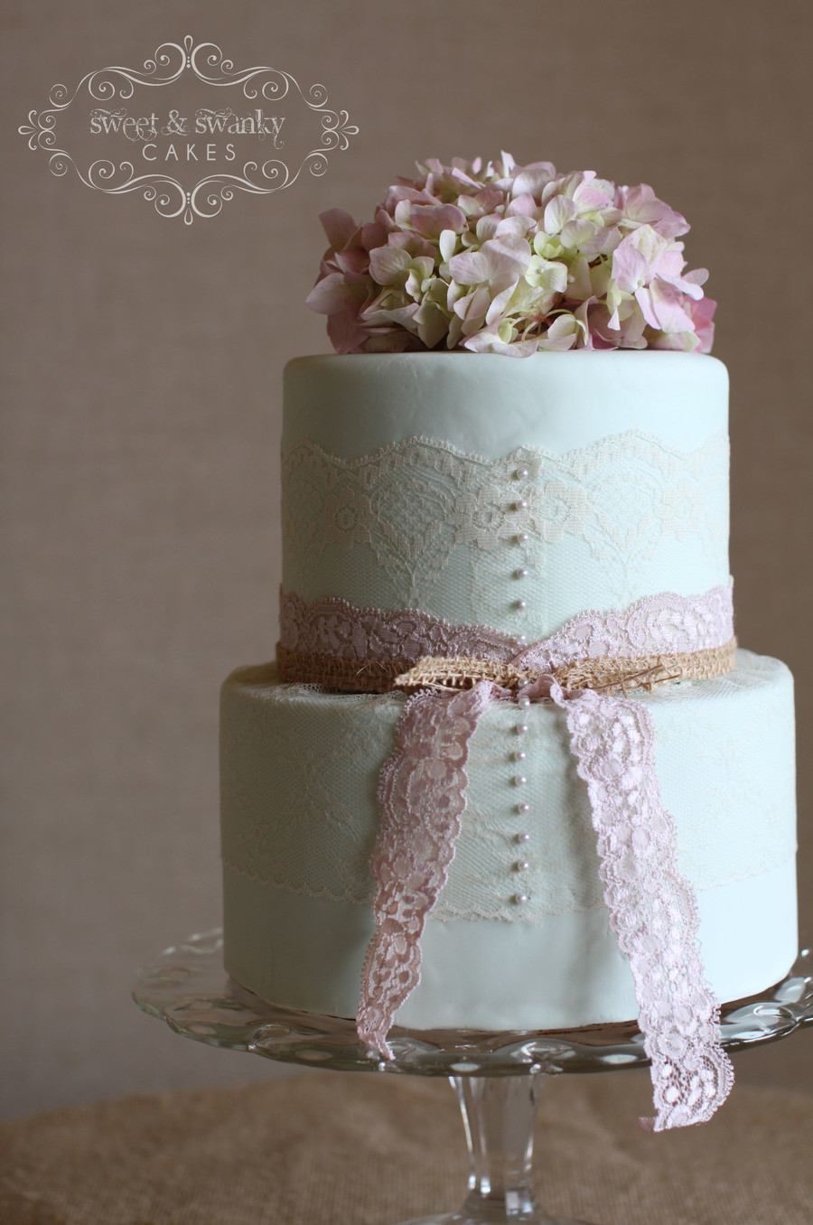 Vintage Wedding Cakes Pictures  Vintage Mint Green Wedding Cake With Real Lace And