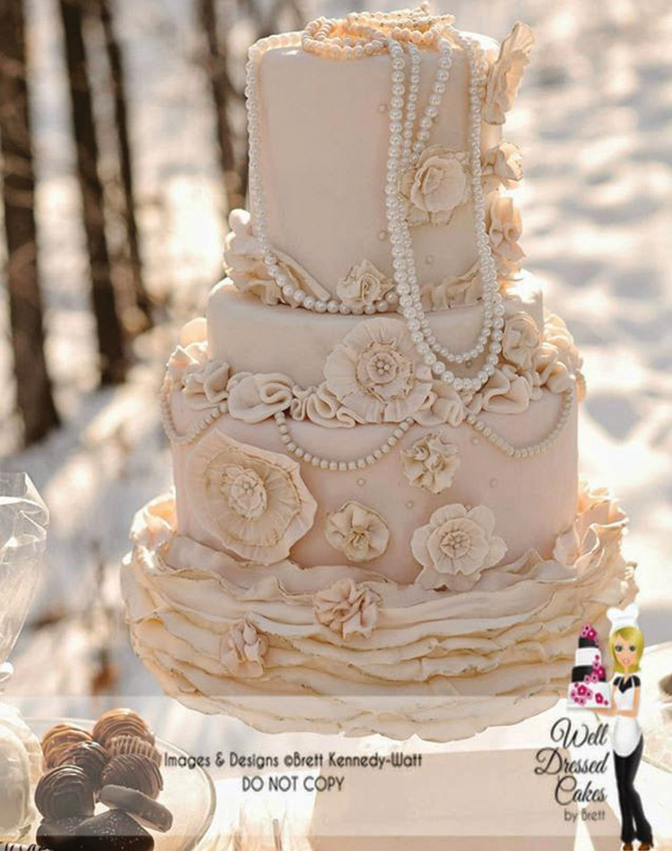 Vintage Wedding Cakes Pictures  Well Dressed Cakes by Brett – Wedding Cakes