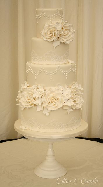 Vintage Wedding Cakes Pictures  Best 25 Lace wedding cakes ideas on Pinterest