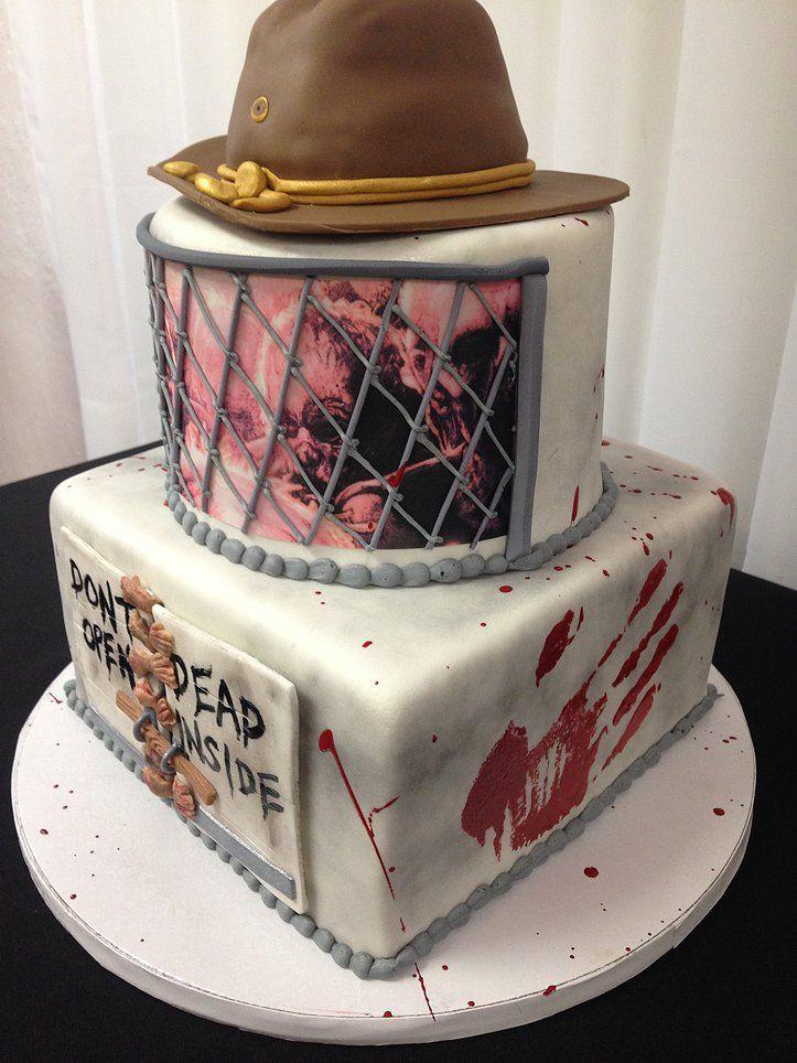Walking Dead Wedding Cakes  The Walking Dead birthday cake