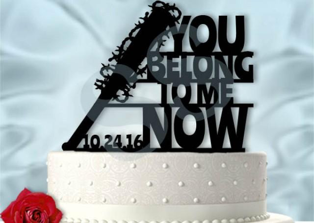 Walking Dead Wedding Cakes  Walking Dead Wedding Negan You Belong To Me Now Lucille