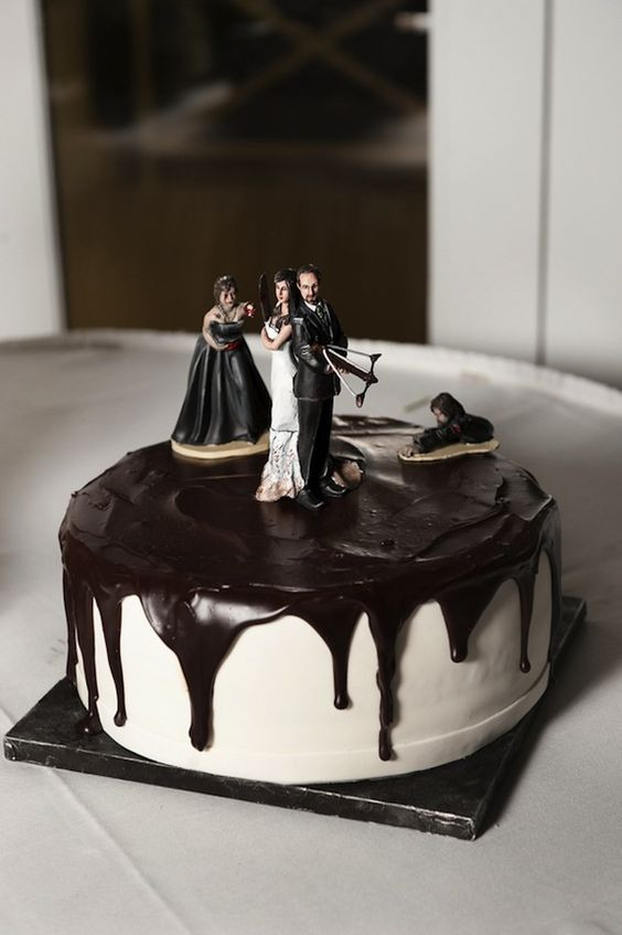 Walking Dead Wedding Cakes  A Walking Dead inspired Zombie grooms cake from Andrew