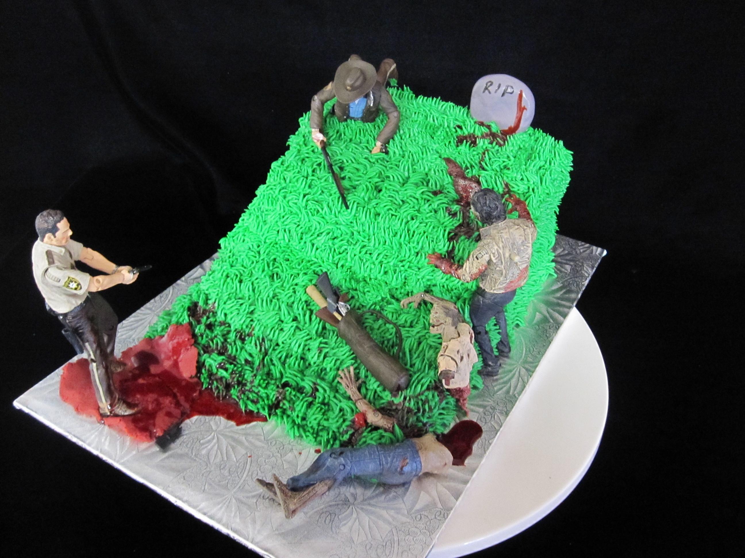Walking Dead Wedding Cakes  Zombie Groom's Cake Somerset Kentucky