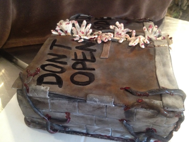 Walking Dead Wedding Cakes  Sweet T s Cake Design Walking Dead sculpted cake