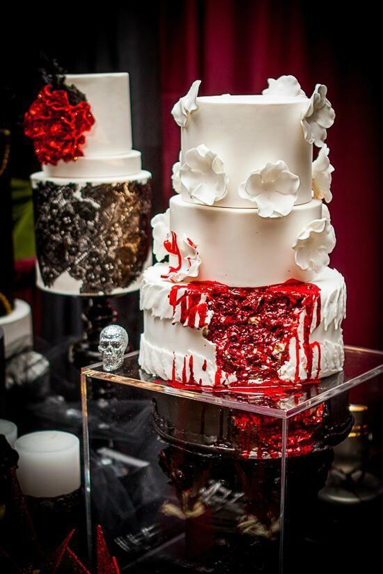 Walking Dead Wedding Cakes  Zombies Corpse Bride Wedding Theme Inspiration