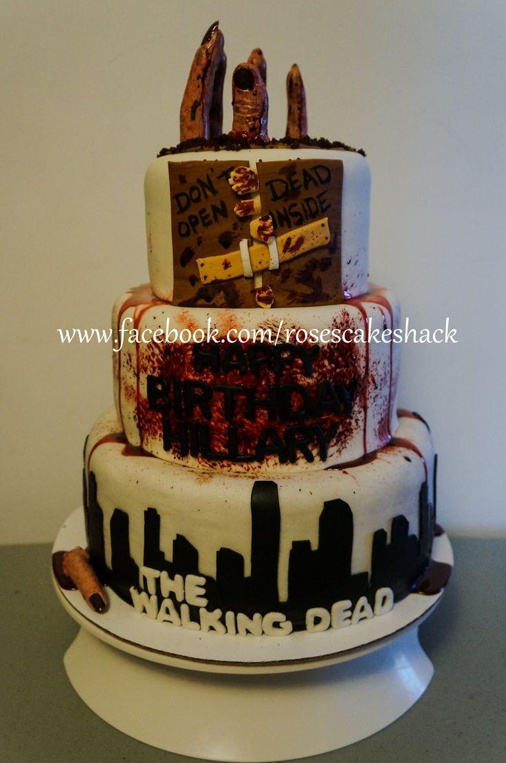 Walking Dead Wedding Cakes  The Walking Dead Cake Rose s Cake Shack