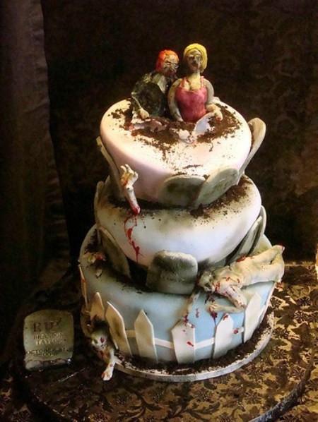 Walking Dead Wedding Cakes  Zombie Wedding Cakes
