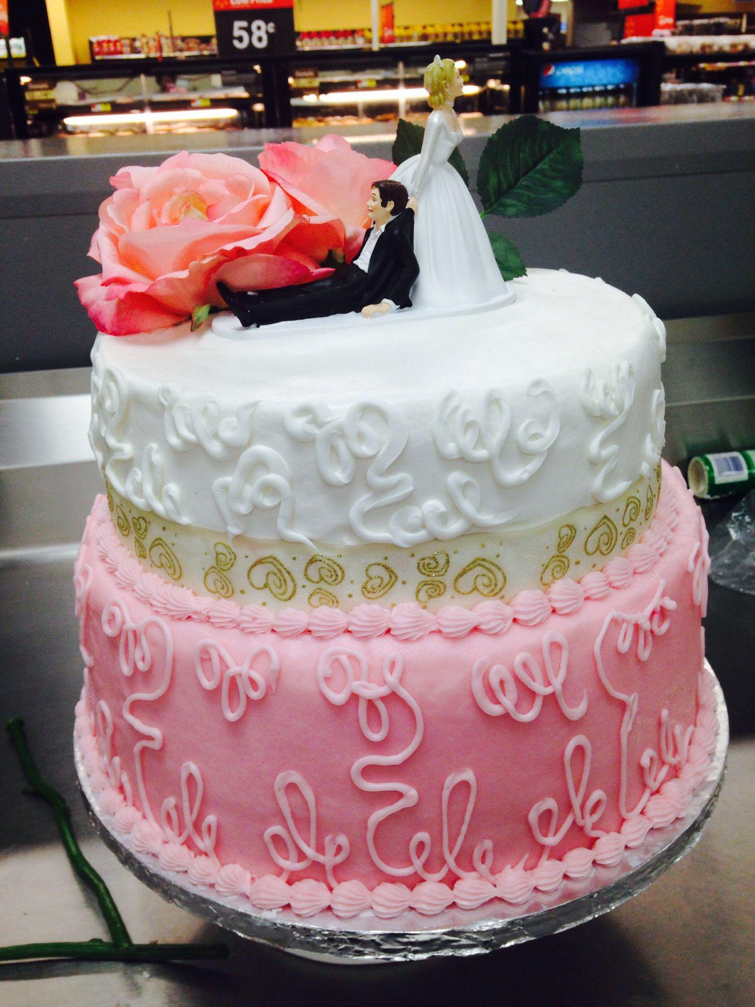 Walmart 3 Tier Wedding Cakes  Two tier wedding cake Walmart Walmart cakes