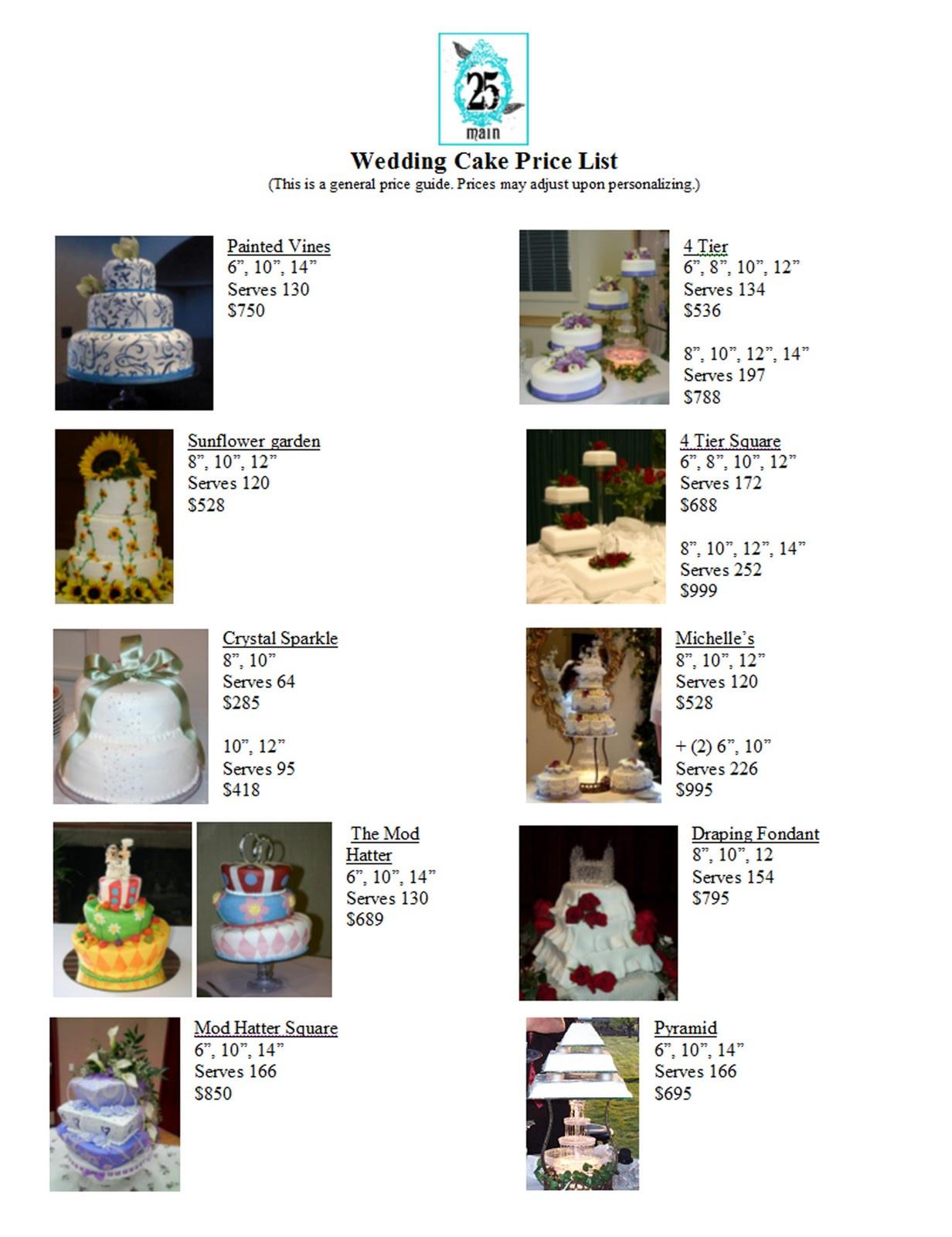 Walmart Wedding Cakes Price List  Vauna s Cakes Wedding Cake Price List