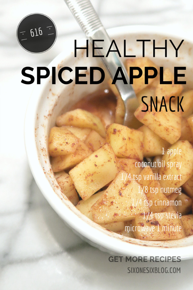 Warm Healthy Snacks  Quick & Healthy Fall Snack Spiced Warm Apples