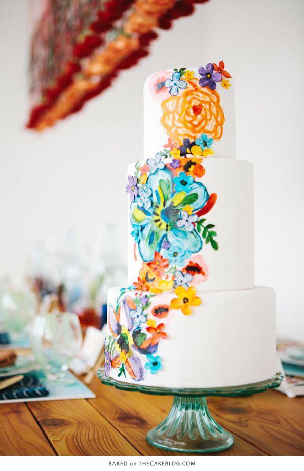 Watercolor Wedding Cakes  10 Watercolor Cakes