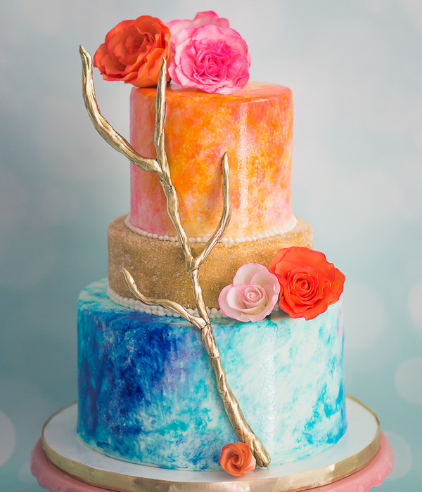 Watercolor Wedding Cakes  Beautiful Watercolor Cakes CakeCentral