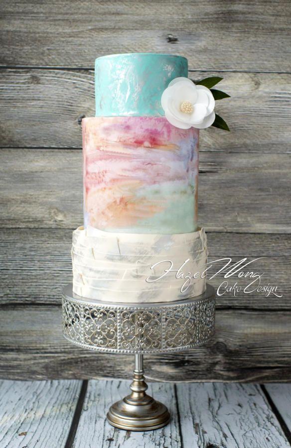 Watercolor Wedding Cakes  Wedding Cake Wednesday Watercolor Cakes